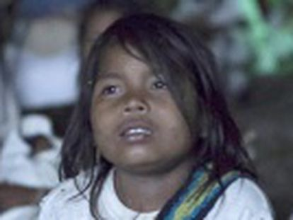 Arhuaco tribe members attend their first film screening as their remote community plays host to a documentary premiere
