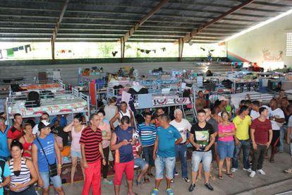 Cuban migrants at the Panama-Costa Rica border.