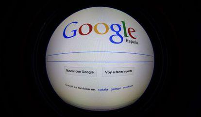 The Google España home page.