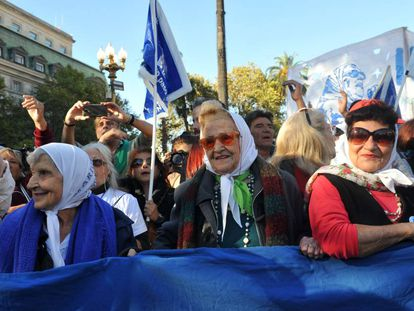 Mothers of Plaza de Mayo on their 40th anniversary.