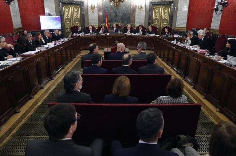 Catalan independence leaders on trial at the Supreme Court.