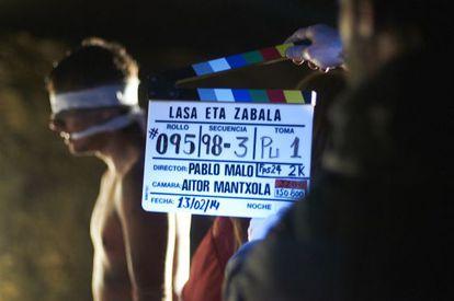 Actor Jon Anza during the filming of 'Lasa y Zabala.'