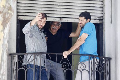 Three former Guantanamo inmates in Montevideo after their release