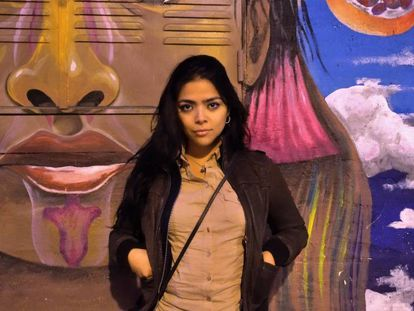 Lina Larrea, who says she feels both Colombian and Spanish.