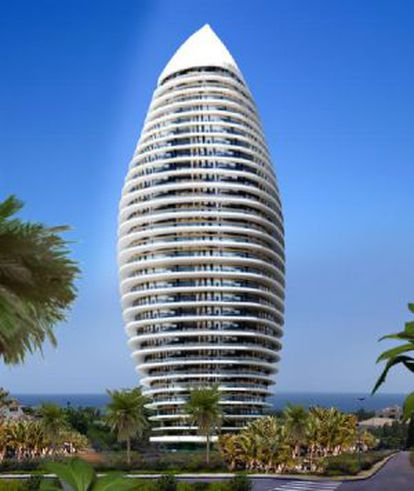 The tower would have 30 floors and 114 luxury apartments.