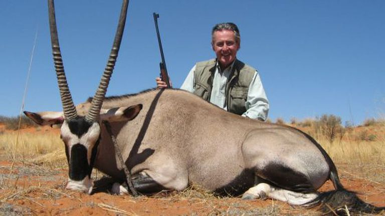 Miguel Blesa, pictured on a hunting trip in Namibia in November 2007.