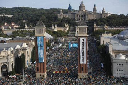 A pro-independence march on Catalonia Day, September 11.