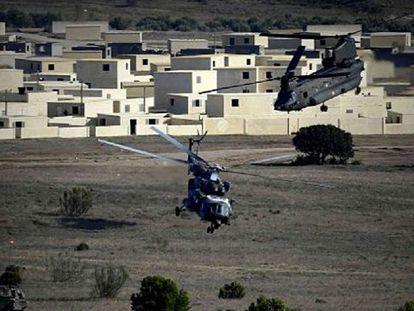 NATO training exercises in Zaragoza on Wednesday