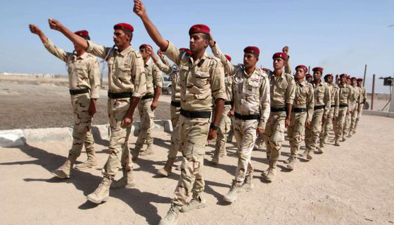 Iraqi soldiers training in Basora on October 21.