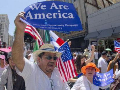 A demonstration in Los Angeles in support of immigration reform in 2013.