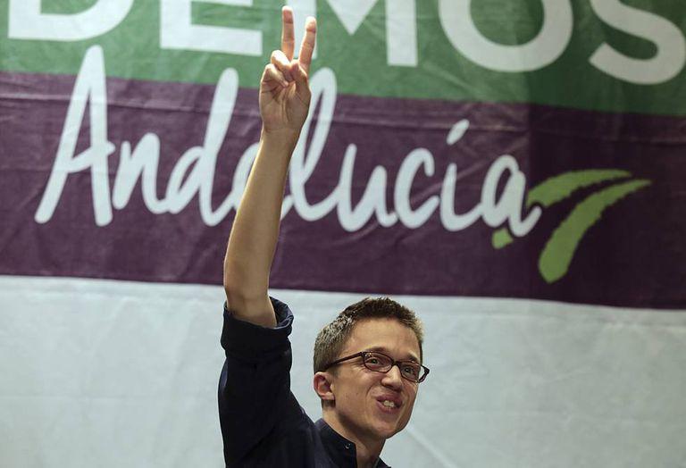 Podemos official Iñigo Errejón at a rally in Andalusia.
