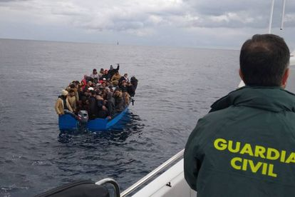 Migrants rescued by Spain on January 16.