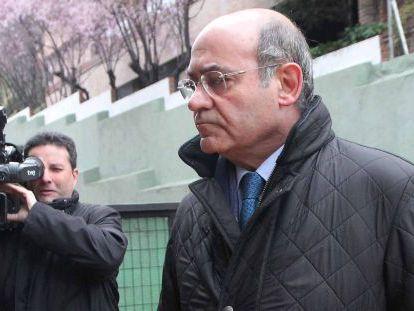 Gerardo Díaz Ferrán arrives at a Madrid court last year.