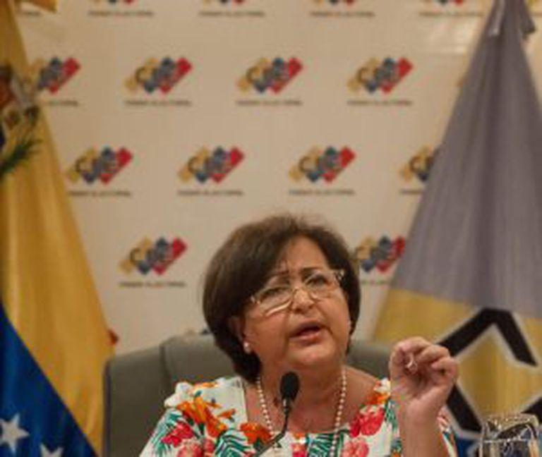 Tibisay Luceno, president of Venezuela's National Electoral Council (CNE).