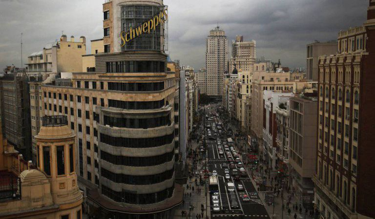 View of the new Gran Vía from Callao.