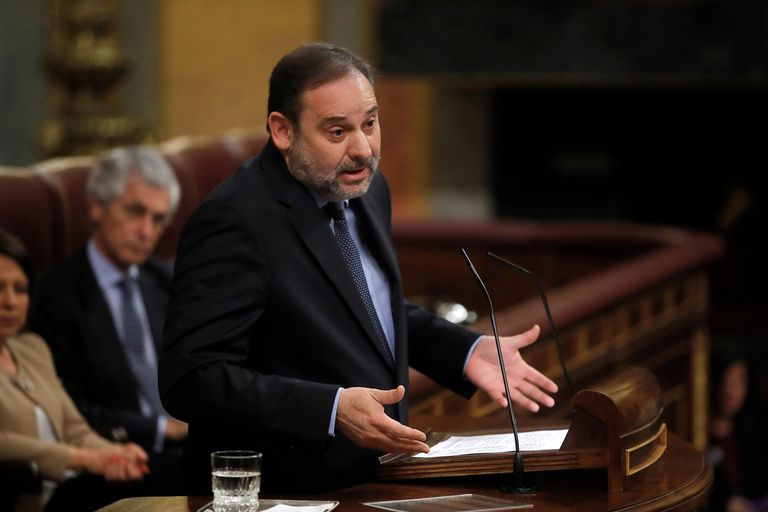 Transportation Minister José Luis Ábalos in Congress today.