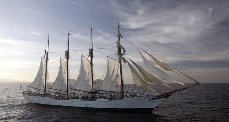 The navy training ship 'Juan Sebastián Elcano,' in a photo from 2007.