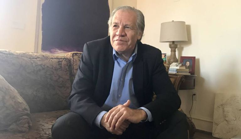 OAS general secretary Luis Almagro in his official residence in Washington DC.
