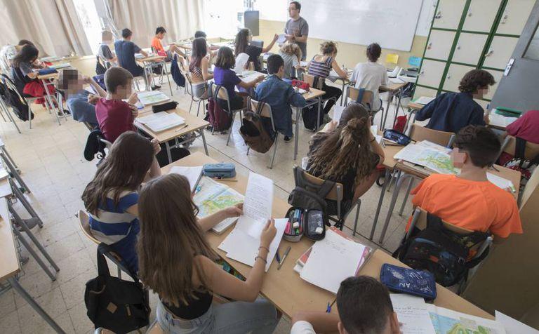 Public school students in Barcelona.
