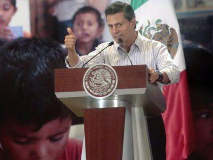 Mexican President Peña Nieto during his visit to Acapulco.
