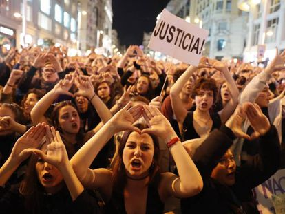 The International Women's Day protest in Madrid in March.