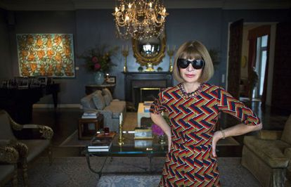 Anna Wintour, the editor of the US edition of 'Vogue.'