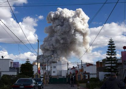 A massive explosion gutted Mexico's biggest fireworks market on Tuesday.