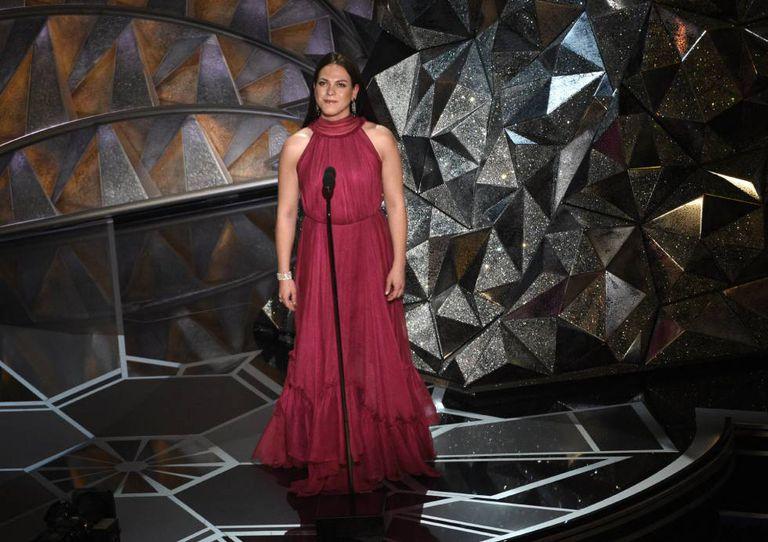 Daniela Vega, during the ceremony.