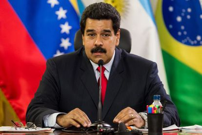 Venezuelan President Nicolás Maduro speaks to Unasur representatives in Caracas on Tuesday.