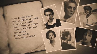 A frame from the documentary, titled 'Cautivas.'