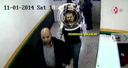 Rodrigo Vallejo, the son of Michoacán's ex-governor, enters the Public Security Department without going through a security check.