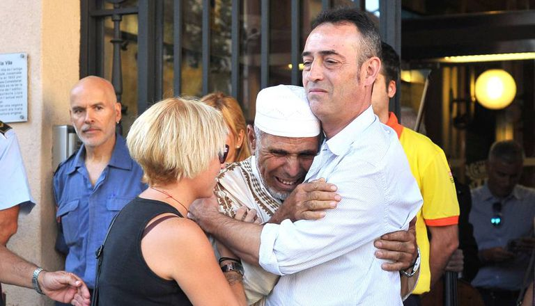 The parents of the three-year-old boy killed in the attack on La Rambla in Barcelona and the local Iman.