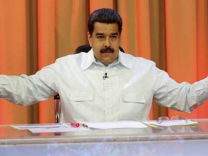 President Maduro on Venezuelan television.