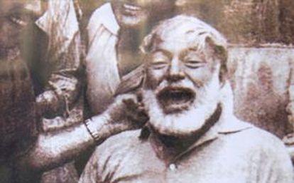 Ernest Hemingway in Pamplona.
