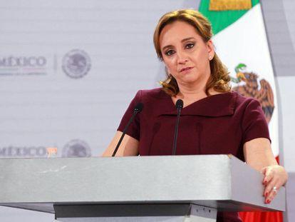 Secretary of Foreign Affairs Claudia Ruiz Massieu.