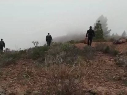 Image taken by the Civil Guard of officers searching for the missing woman and her son in Adeje.