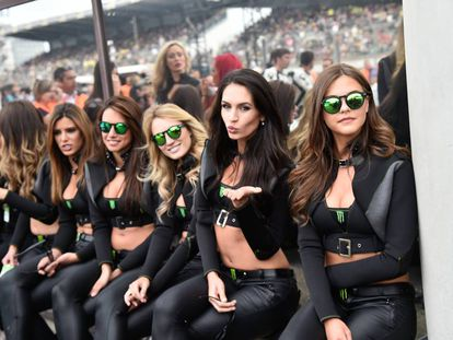 Paddock girls at a recent event in Jerez.
