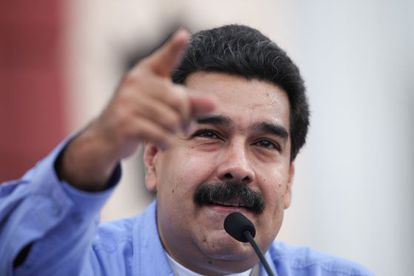 Nicolás Maduro at an event in Miraflores Palace.