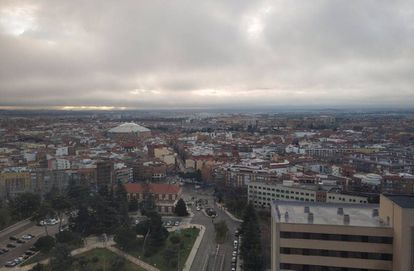 View of Madrid from the Gómez Ulla military hospital.