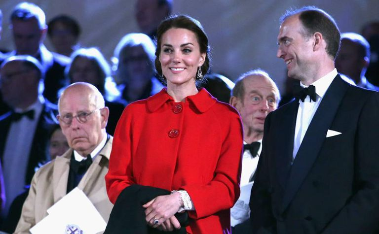 Kate Middleton wearing the Zara coat that was sold out in 48 hours.