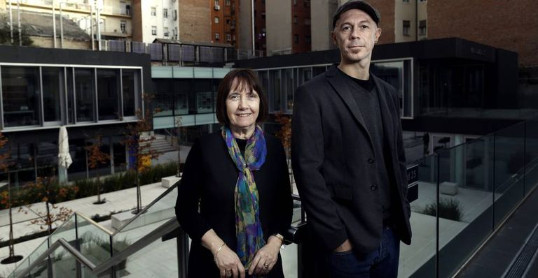 Kay Welsh and Mick Green at the British Council in Madrid.