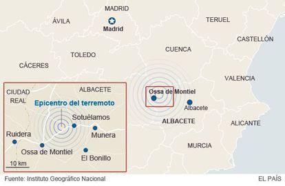 The epicenter of the quake was in Ossa de Montiel, Albacete province.