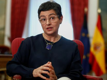 Spanish Foreign Minister Arancha González Laya during an interview with Reuters this May.
