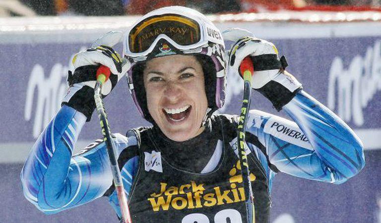 Carolina Ruiz after her victory in Méribel.
