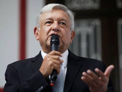 Mexico's President-elect Andrés Manuel López Obrador in Mexico City.