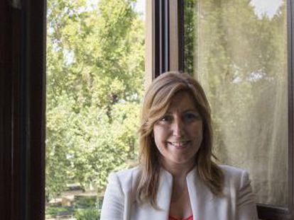 Susana Díaz at the Andalusia government's San Telmo palace.