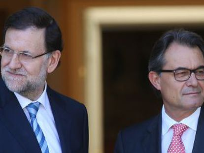 Rajoy (left) and Mas's last meeting was in July.