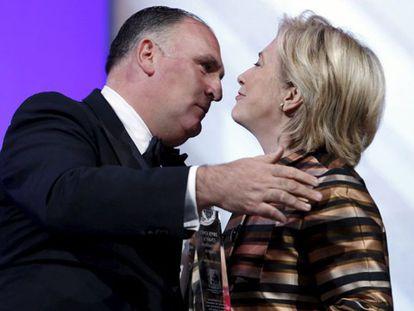 Video: Hillary Clinton praises chef José Andrés.