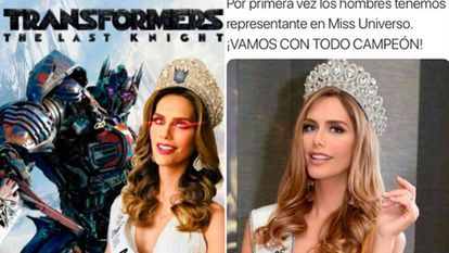 """Meme against Ponce: """"For the first time men have a representative in Miss Universe. Give it your all champion."""""""