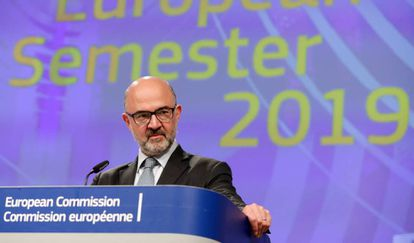 Pierre Moscovici in Brussels on Wednesday.